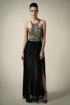 I would LOVE my dress to have a halter cut like this one