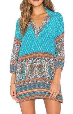 Boho Tunic Dress. Free shipping.