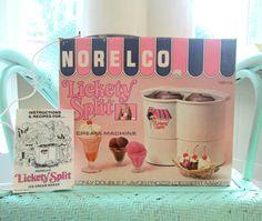 Ice Cream Maker Vintage Norelco Lickety Split by looseendsvintage