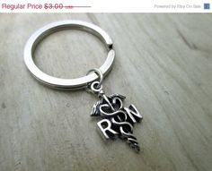 ON SALE RN Registered Nurse Keychain Nurse Gift by ThePeapodShop