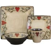 Found it at Wayfair - Jubilee Black 16 Piece Dinnerware Set ***cg