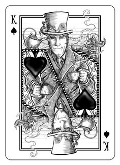 Albino Dragon is raising funds for The White Rabbit Playing Cards on Kickstarter! Inspired by the works of Lewis Carroll, this is the newest Bicycle® deck from Albino Dragon. Bicycle Cards, Bicycle Deck, King Drawing, King Of Spades, Play Your Cards Right, Playing Cards Art, Deck Of Cards, Cool Cards, Paper Dolls