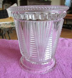 EAPG NON FLINT GLASS 1897 MCKEE & BROTHERS ADONIS SPOONHOLDER  picclick.com