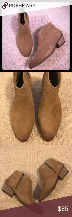 NEW Vince Camuto ankle booties New and never been worn ankle booties from Vince Camuto are perfect for the Fall season. Distressed look adds great style to any outfit. Vince Camuto Shoes Ankle Boots & Booties