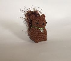 Crocheted Baby Squirrel  hand crocheted squirrel  by meddywv