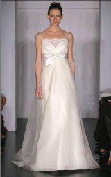 A-line Lace Bust Silk Organza Wedding Dresses