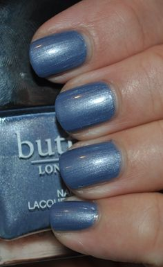 Butter London- Right As Rain- Was limited edition for 10th anniversary. Beautiful, perfect formula. A gorgeous denim/chambray blue color.