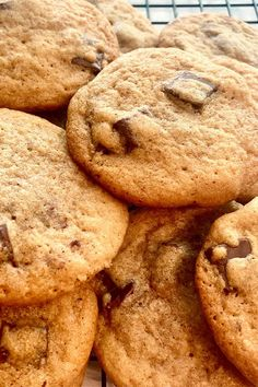 These brown butter chocolate chip cookies are a quick and easy cookie recipe! These delicious chocolate chip cookies are made using vanilla, chocolate chips, and brown sugar. You'll love baking this classic dessert recipe for your friends and family!
