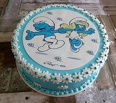 Smurfentaart Decorative Plates, Birthday Cake, Desserts, Smurfs, Food, Home Decor, Tailgate Desserts, Birthday Cakes, Deserts