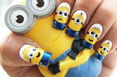 awesome 15 Minion Nails That Are Anything But Despicable - Stylendesigns.com!