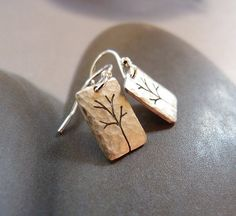 Trees Sterling silver earrings, dangle earrings, natural jewelry, small earrings, gift for graduation, gift for her, gift for wife, birthday