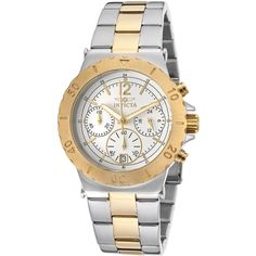 Invicta Invicta Women's Women's Specialty Chronograph Stainless Steel... ($89) ❤ liked on Polyvore featuring jewelry, watches, no color, stainless steel jewelry, chrono watch, analog wrist watch, chronograph wrist watch and stainless steel watches