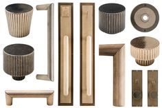 Quickly revamp an armoire or dresser with sculptural metal pulls by Rocky Mountain Hardware. | Lonny.com