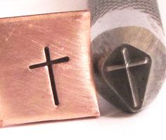 Pure Cross 7x 4.5 mm design stamp professional grade for all metals.