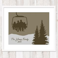 Hey, I found this really awesome Etsy listing at https://www.etsy.com/listing/218874944/custom-chair-lift-family-personalized