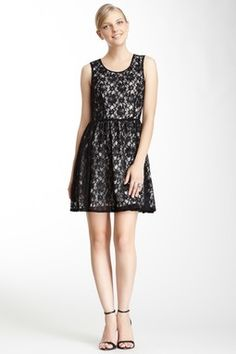 French Connection Lizzie Lace Dress on HauteLook Fashion Now, Cute Fashion, Fashion Beauty, Fashion Trends, Dress Outfits, Girl Outfits, Cute Outfits, Classic Black Dress, Lovely Dresses