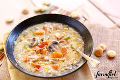 Smoked Turkey Chowder with Mushrooms and Sweet Potatoes  made by @Brenda - a farmgirl's dabbles