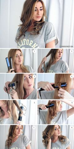 How To Curl Your Hair with a Flat Iron | Wonder Forest: Design Your Life.