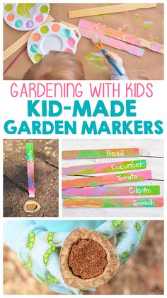Gardening With Kids: Kid-Made Garden Markers #GroablesProject #ad