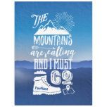 Shop The Mountains are Calling I Must Go Typography Art Fleece Blanket created by BCVintageLove. Wanderlust, Hiking Gifts, Hiking Gear, Hiking Training, Hiking Trails, Hiking Backpack, Grand Canyon, Tips Fitness, Hiking Quotes
