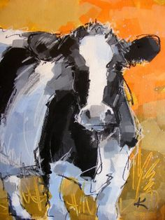 Original Cow Art Painting 'Holstein Friesian' | Paint with ...