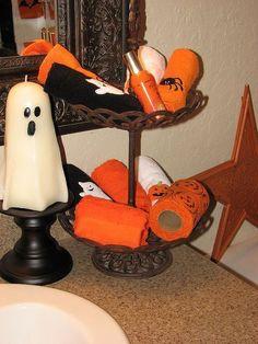 Halloween Bathroom - Two Peas in a Bucket Halloween Bathroom, Halloween Town, Wonderful Time, Trick Or Treat, Halloween Decorations, Party Supplies, Bucket, Treats, Holiday Decor