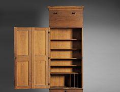 Shaker Pine Schoolhouse Cupboard and Case of Drawers, Mount Lebanon, New York, c. 1840 (Estimate $60,000-$80,000)