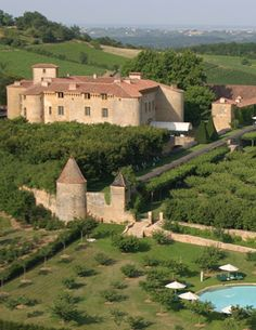 A wildly romantic five-star hotel, Château de Bagnols is everything a castle should be.  #travel #honeymoon #france