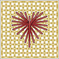 Rhodes Heart Technique Stitch Diagram