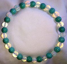 Türkis Mondstein Perlen Armband