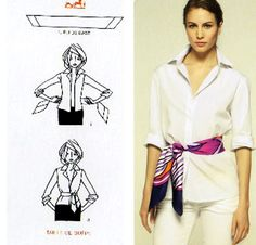 Hermes scarf as belt