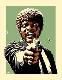 Say YOLO again! - Funny poster of Samuel L. Jackson as Jules from Pulp Fiction. Say YOLO again! Gym Humor, Workout Humor, Fitness Humor, Crossfit Humor, Funny Fitness, Gym Memes, Funny Memes, Arte Pulp Fiction, Rock Poster