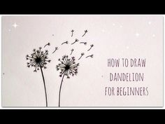 How to draw dandelion - easy version for beginners. Hello :) Today I want to show you how to draw dandelion for beginners. Next Saturday more videos about handwriting and drawing.