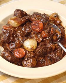 Beef Bourguignon - an easy Dutch-oven dinner to bring the family to the table.