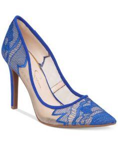 Jessica Simpson Camba Lace Pointed-Toe Pumps   macys.com