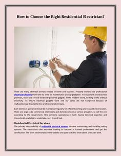 Each electrical appliance should be maintained regularly for efficient working and to avoid electrocution. There are large-scale commercial electricians and domestic electrical service providers, so call the one according to the requirement.