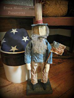 Primitive Uncle Sam  https://www.facebook.com/Starr-Mountain-Primitives-228548684018/timeline/