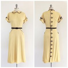 Vintage Fashion: Artifacts From Years Gone By - Popular Vintage 1940s Fashion Dresses, 1930s Fashion, 1940s Dresses, Retro Fashion, Vintage Dresses, Vintage Outfits, Vintage Fashion, 1940s Outfits, Flapper Dresses