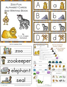 Zoo Fun Alphabet Cards and writing book in coth color and b & w has been added to 1 - 2 - 3 Learn Curriculum. A fun writing activity to use during your zoo theme. Click on picture to learn how to become a member or to check out free downloads. Jean 1 - 2 - 3 Learn Curriculum