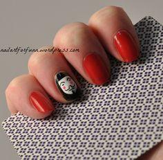 V for Vendetta nails