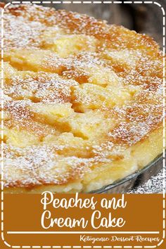 and Cream Cake Peaches and Cream Cake Recipe ~ The cake bakes up in to a form that is barely set on the outside and creamy on the inside. It's very mildly sweet, which really lets the peaches shine.Peaches and Cream Cake Recipe ~ The cake bakes up in to a Just Desserts, Delicious Desserts, Yummy Food, French Desserts, German Desserts, Health Desserts, Peaches And Cream Cake Recipe, Peach Cake Recipes, Fresh Peach Recipes