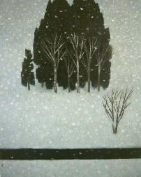 東山魁夷 雪降る 1961年