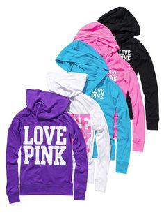 Victoria's Secret PINK hoodies.. I'm a total Victoria secret hoodie junkie.
