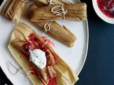 Burnt Strawberry Tamales | These best-ever strawberry dessert tamales would also be great for breakfast. Get the recipe on Food & Wine.