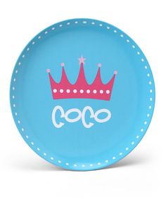 Take a look at this Crown Personalized Plate by Lima Bean Kids on #zulily today!