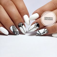 Nails new years white art designs 34 Ideas Nail Designs Bling, Classy Nail Designs, French Nail Designs, Pretty Nail Designs, Nail Art Designs, Nails Design, Classy Nails, Cute Nails, Pretty Nails