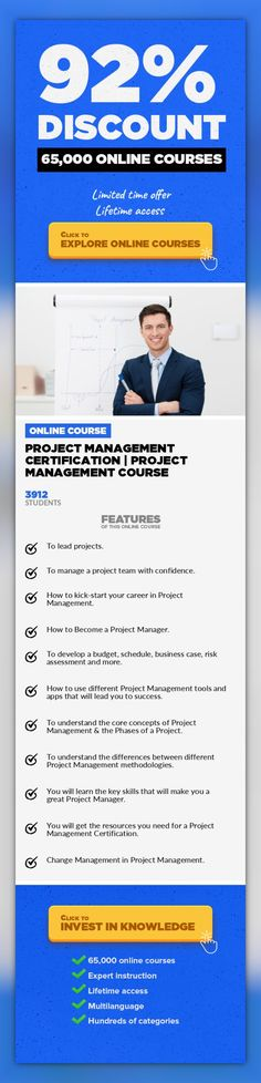Project Management Certification   Project Management Course Project Management, Business #onlinecourses #onlinecourseswebsite #onlinelearningtipsProject Management Certification to get in an industry that is adding 1.5 million jobs each year: Project Management This Project Management course udemyabout how to Become a Project Manager, isdesigned to provide you with the in-depth knowledge an...