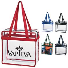 Promotional Zippered Clear Stadium Box Tote Bag Item (Min Qty: Customize your Promotional Clear Tote Bags with your company logo and with no setup fees. Clear Tote Bags, Promotional Bags, Free Artwork, Custom Bags, Football Season, Business Logo, Packaging Design, Giveaway, Advertising Ideas