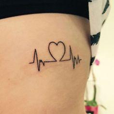 22 Photos of Inspiring Heartbeat Tattoos