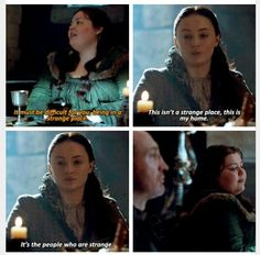 You tell those fuckers, Sansa!